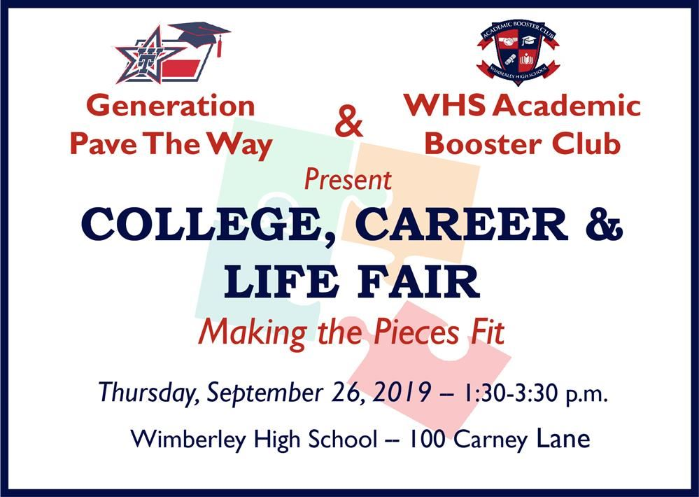 College, Career & Life Fair Sept. 26 at WHS