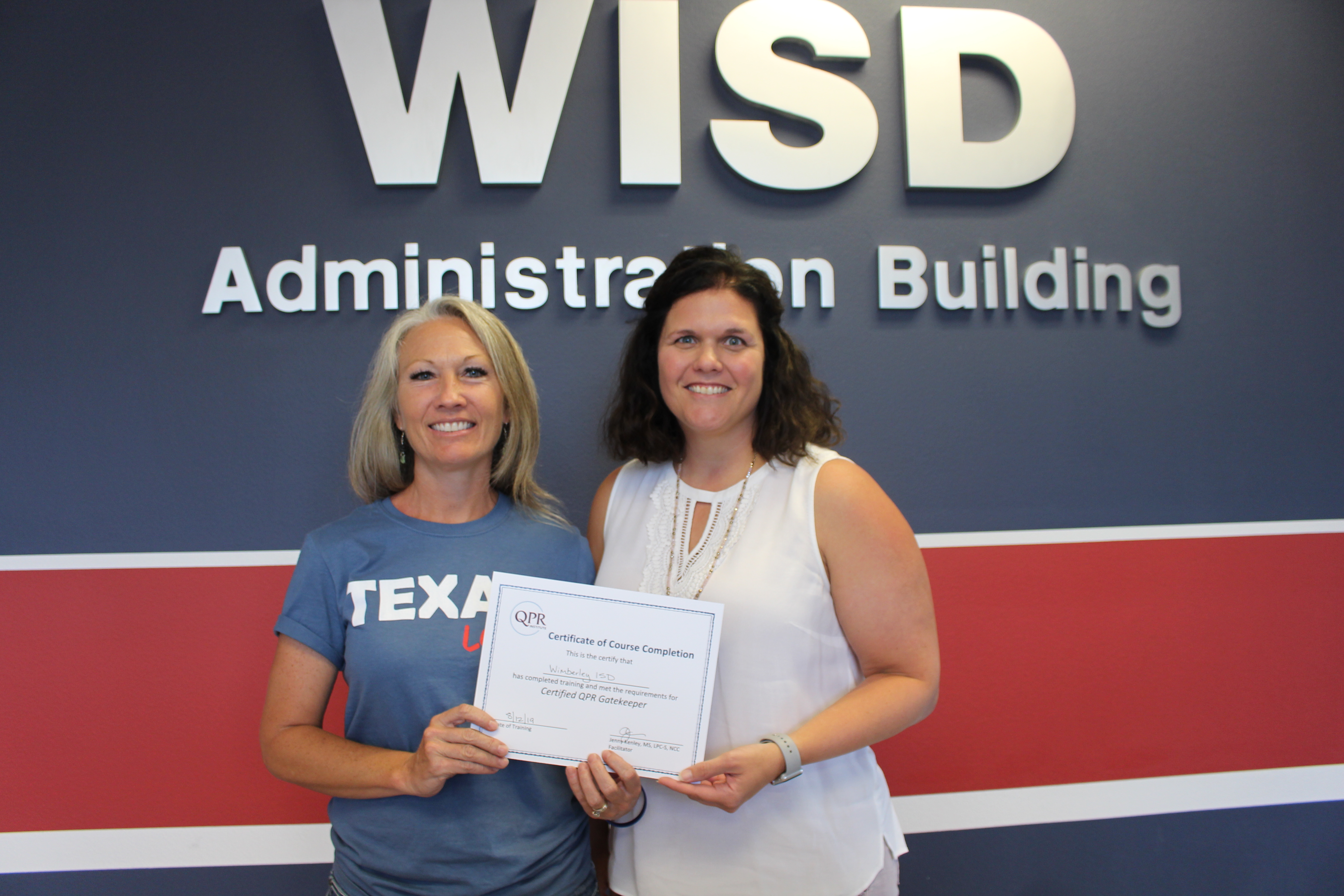 Suicide Awareness, Prevention Critical to  Wimberley ISD 2019-20 School Year Training