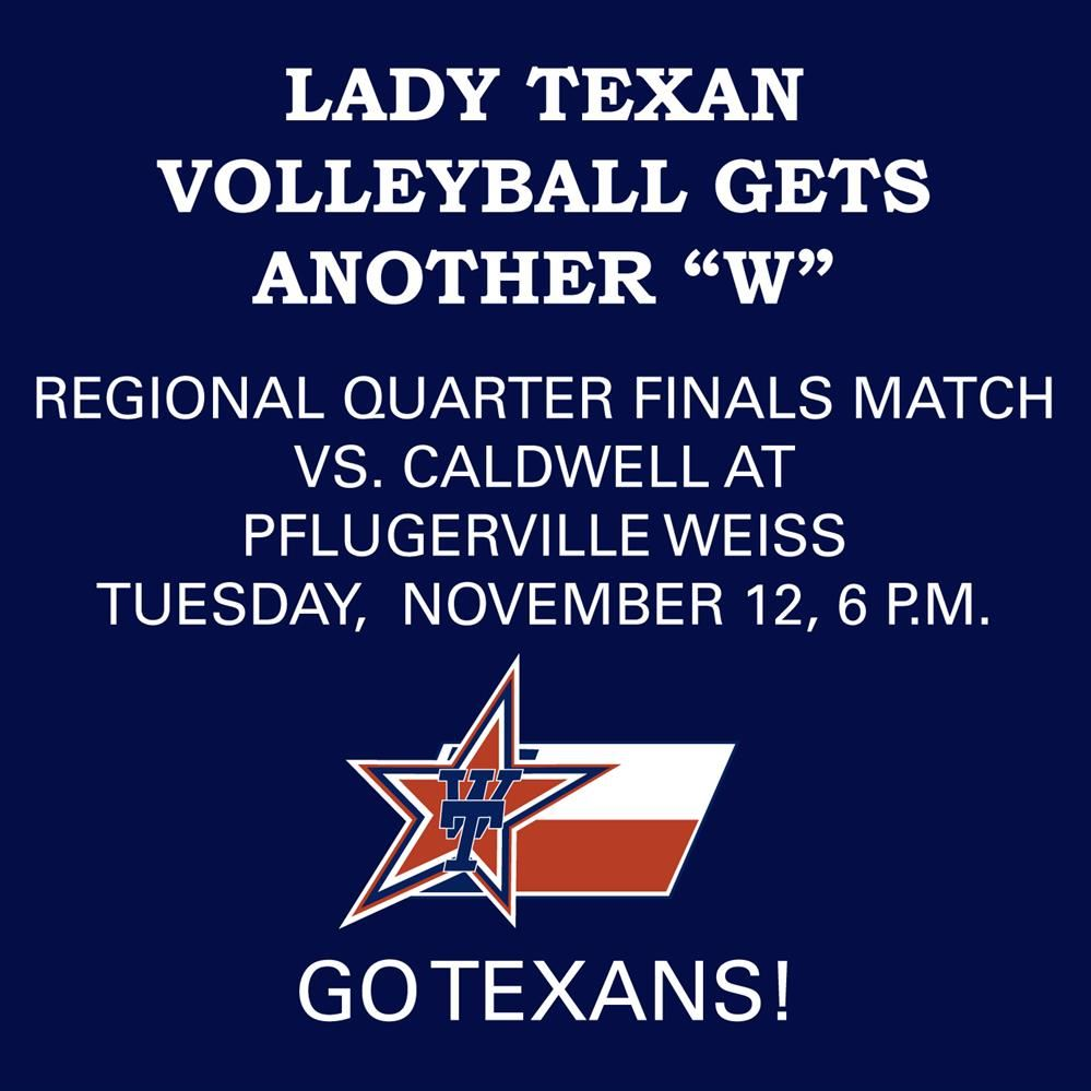 Next Stop: Regional Quarterfinals for Lady Texans Volleyball