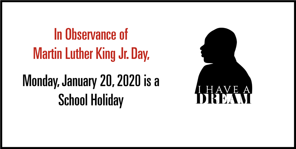 MLK School Holiday Graphic